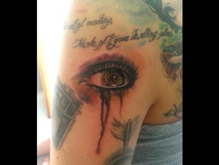 Watercolor  Eye Shoulder