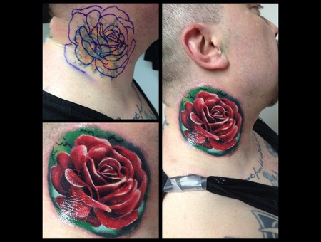 Toroktattoo Rose Neck