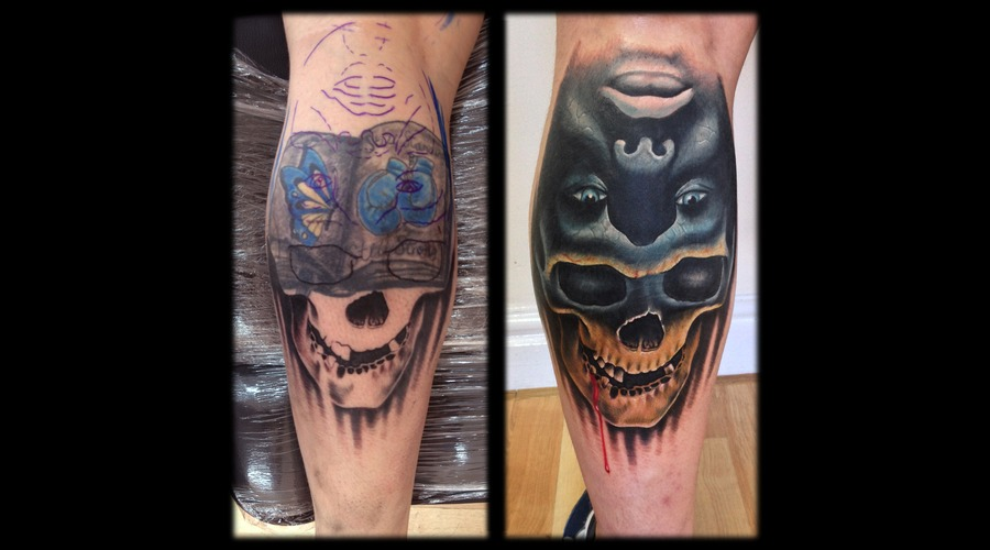 Toroktattoo Cover Up Lower Leg