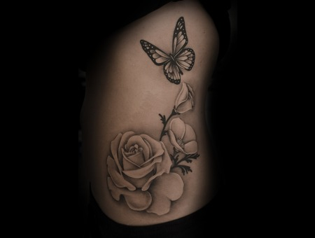 Butterfly  Butterfly Tattoo  Realism  Beautiful  Girly Tattoo  Black &White