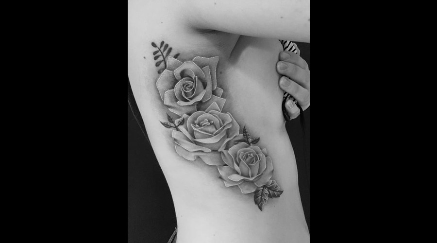 Rose  Roses  Flowers  Realism  Photo Realism  Black & Grey  Tattoo Artist