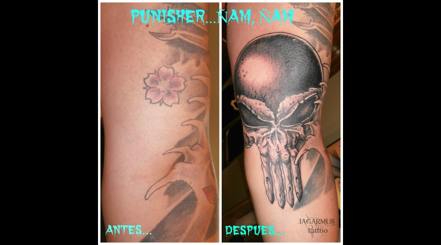 Cover Up  Calavera  Punisher Arm