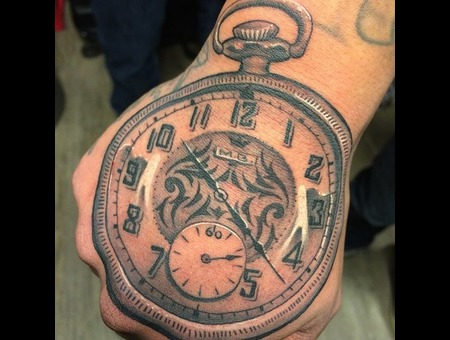 Clock  Tattoo  Art Forearm