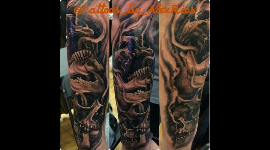 Skulls Hand Alexriostattoos Yonkers Westchesterny Forearm
