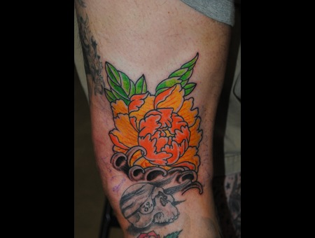 Tebori Peony Flower Thigh