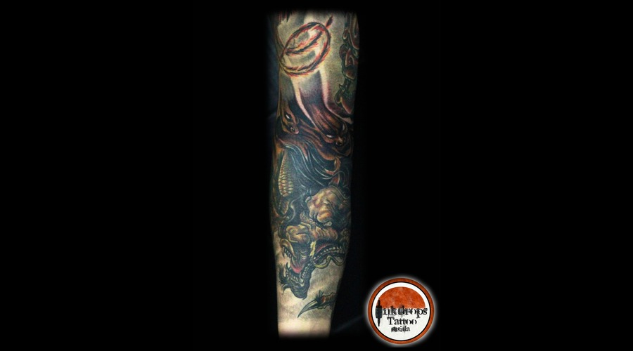 Japanese   Color   Dragon    Forearm