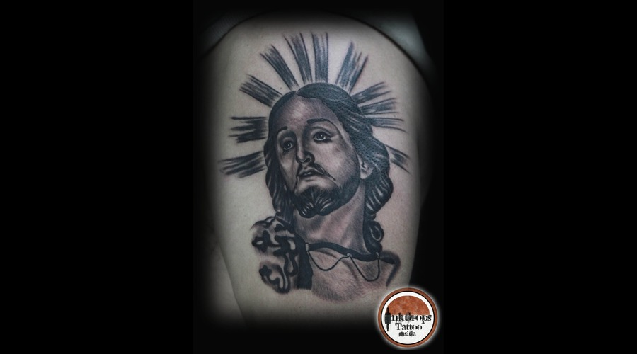 Religious  Black N Grey   Portrait Arm