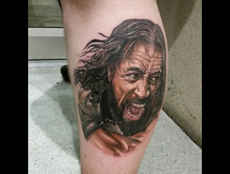 Portrait  The Rock  Hercules  Realism  Lower Leg
