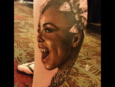 Portrait  Realism  Photo Realism  Queen Of The Dammed Lower Leg