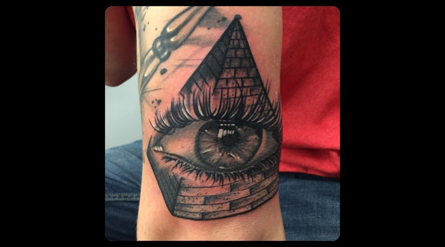 All Seeing Eye  Pyramid  Black And Grey  Realism  Portrait  Canada  Ontario Forearm