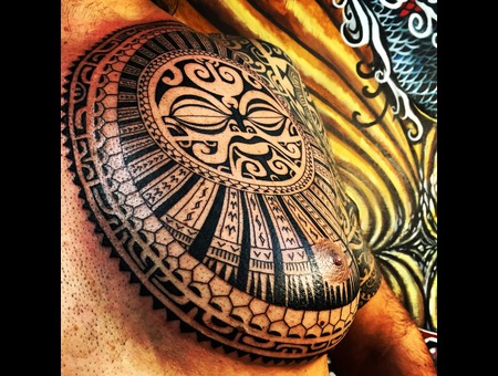 Sun God Maui Hawaii Polynesian Tribals Samoa  Chest