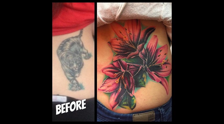 Cover Up  Lilies  Colour  Color  Sudbury  Ontario Back