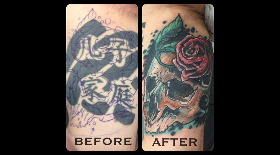 Cover Up  Skull  Colour  Color Arm