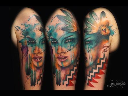 Native  Watercolor  Girl   Arm