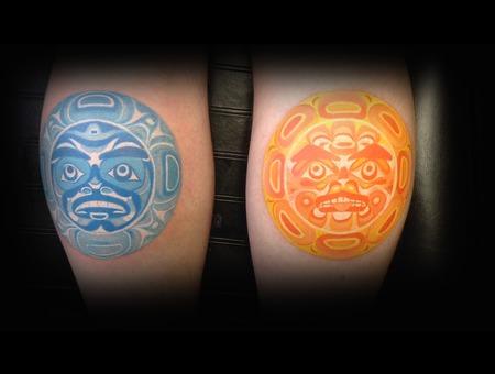 Sun  Moon  Sun And Moom  Color Lower Leg