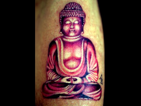 Buddha  Tiny Tattoo Forearm