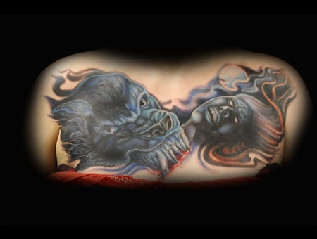 Chest  Chest Piece  Color Tattoo  Warewolf  Dead Girl Chest