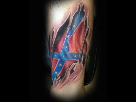 Fag  Color  Confederate Flag Arm