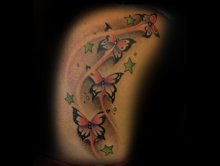 Side Piece  Butterflies  Butterfly  Color  Women Ribs