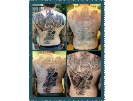 Black And Grey  Cholo  Mexican   Back