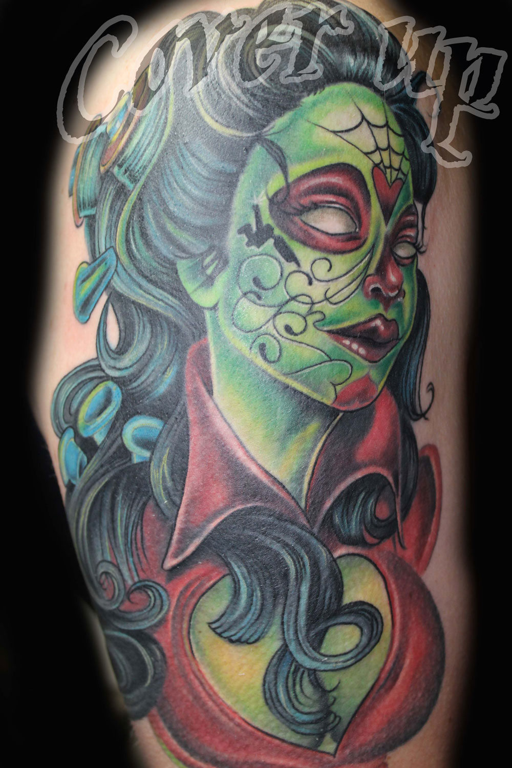 Daniel frost certified artist for Color skull tattoos