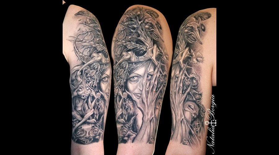 Fairies  Dark  Fairy  Forest  Foliage  Evil  Bones Arm