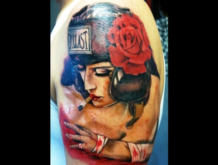 Brian Viveros Artwork Recreation. Lower Leg