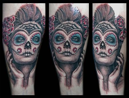 Toroktattoo Mexican Face Color