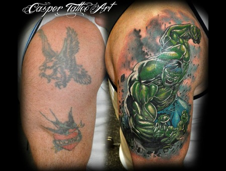 Cover Up Hulk Tattoo  Arm