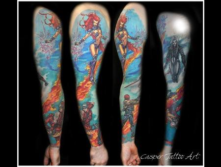 Comics Superhero Color Sleeve Arm
