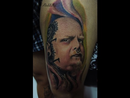 Portrait  Paul Booth  Tattoo  Face Tattoo  Nose Ring  Tattoo Artist
