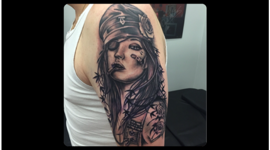 Brian Viveros  Black And Grey  Portrait  Realism  Sleeve In Progress  Dirty Arm