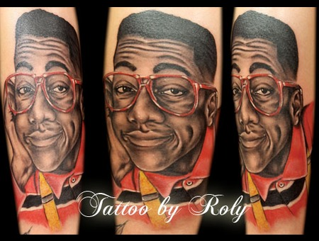 Portrait  Steve Urkel  Black  Grey  Realism  Realistic  Black Grey