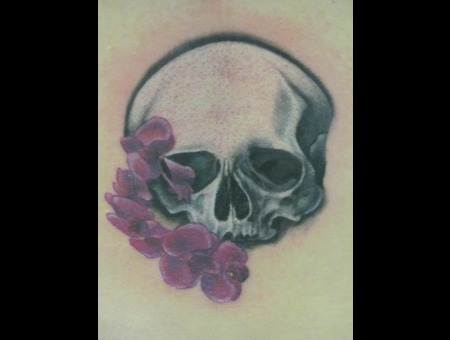 Floral Skull  Flowers  Skulls Back