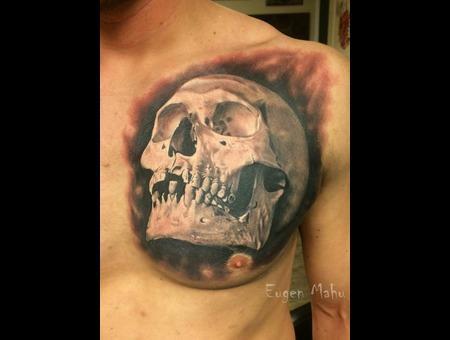 Realistic  Realism  Art  Tattoo Chest