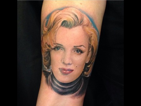 Marilyn Monroe Portrait Arm