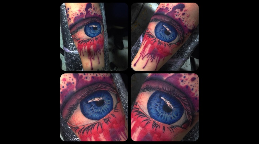 Eye Realism Watercolour Watercolor Forearm