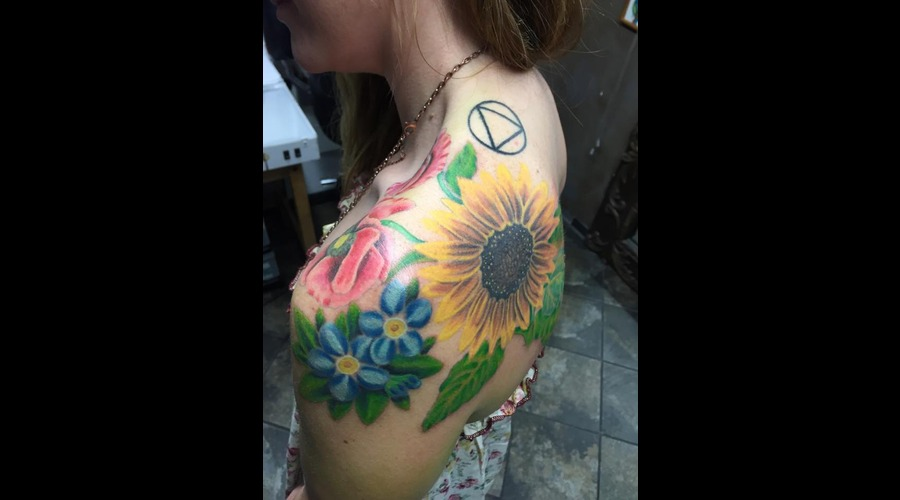 Pretty  Flowers  Colorful  Shoulder