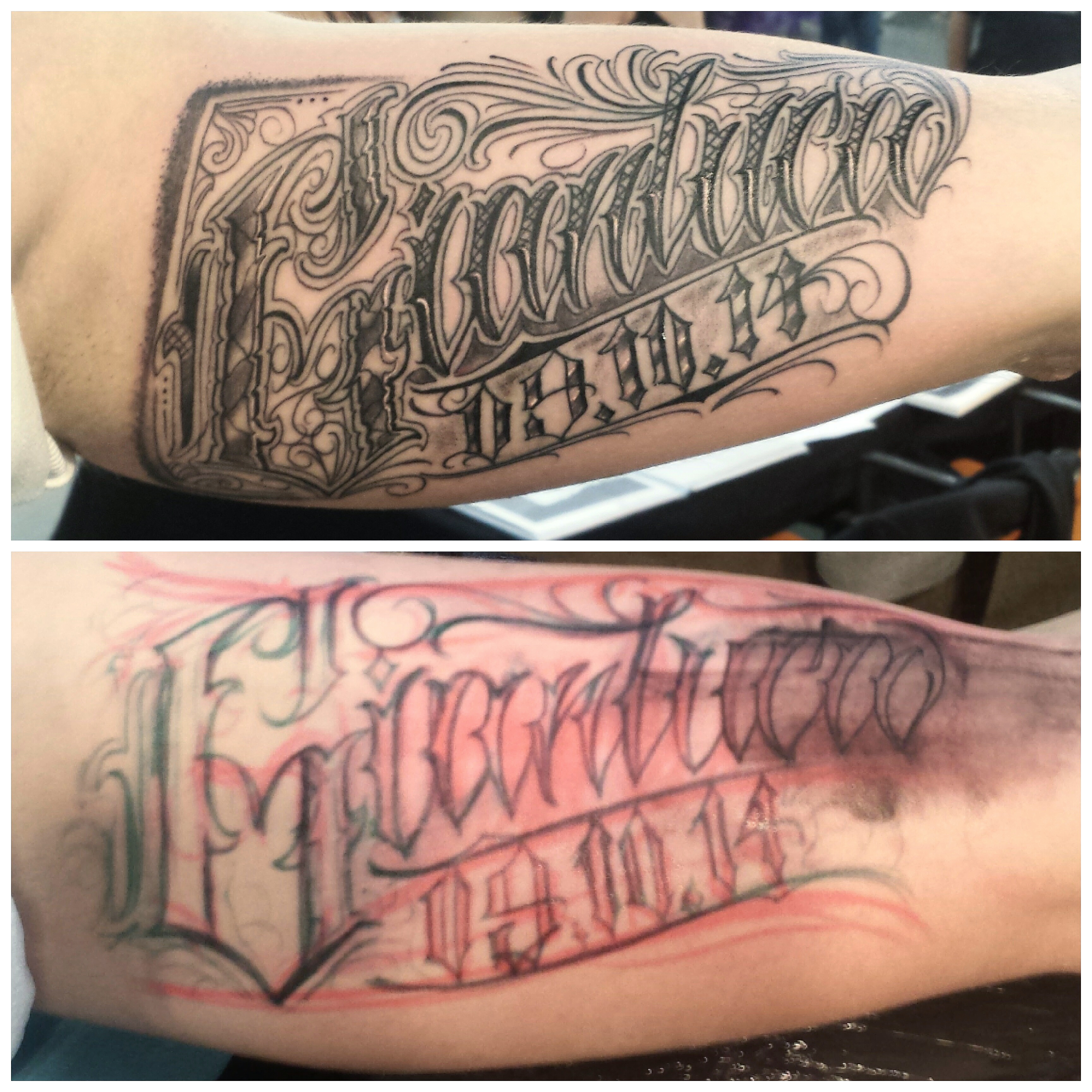 Philippe d las certified artist for Letter tattoos on hand
