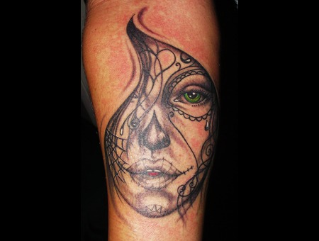 Day Of The Dead Girl  Portrait Forearm