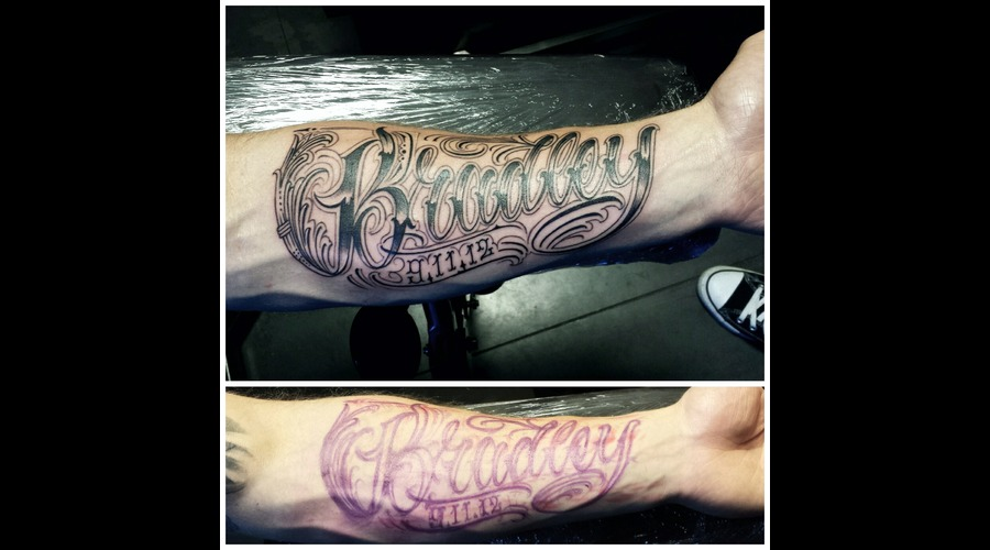 Freehand Lettering Forearm