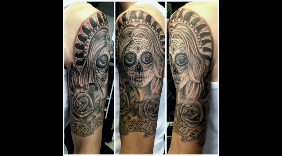 Catrina Chicano Day Of The Dead Arm