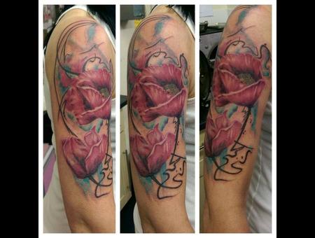 Floral  Flowers Arm