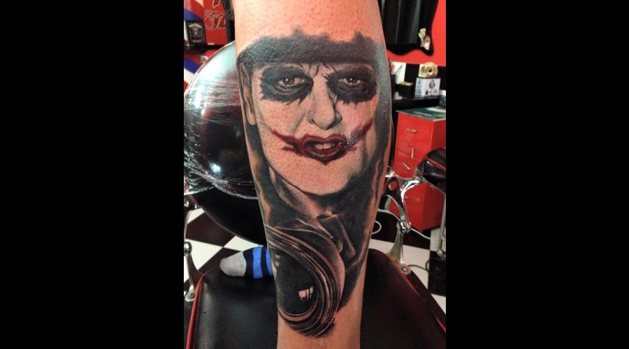 #Joker  Black Grey Lower Leg