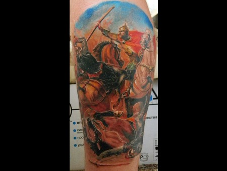 Battle  Warrior  History  Painting  Realism Color Lower Leg