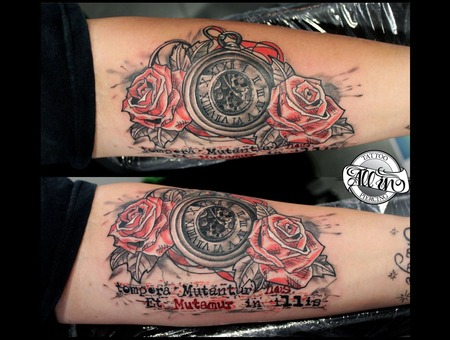 Watch  Roses  Trash  Lettering  Custom  Unique Forearm
