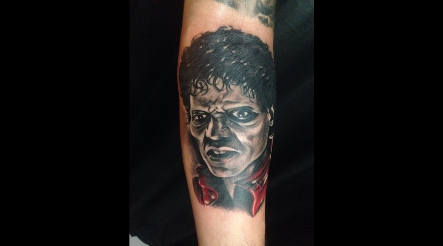 #Michaeljackson  Black Grey Forearm