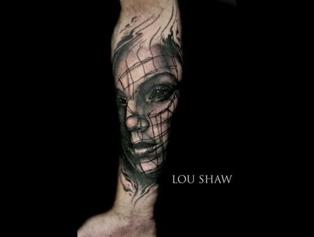 Girl Face  Net  Portrait  Girl Face In Net  Aquatic  Realism Forearm