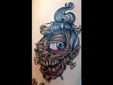 Flash Shrunken Head Thigh