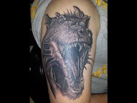 Dragon Black Grey Arm